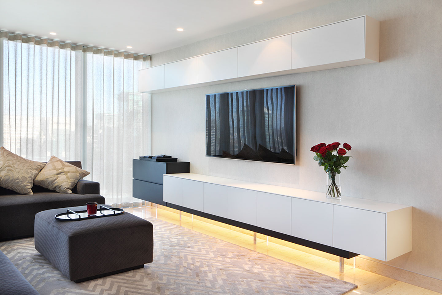 Media Cabinets London By Wyndham Design # Meuble Tv Hifi Design