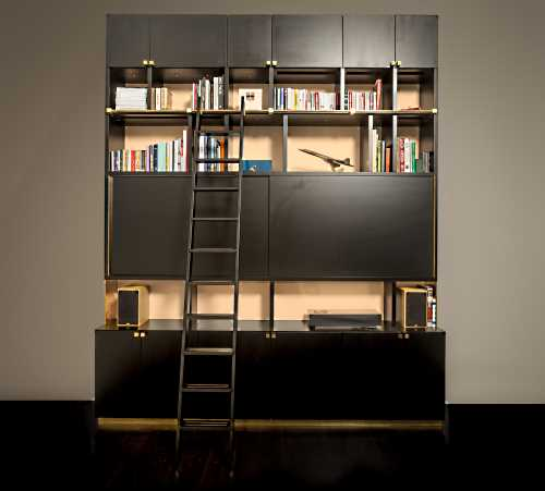 Illuminated Bookshelf by Wyndham Design